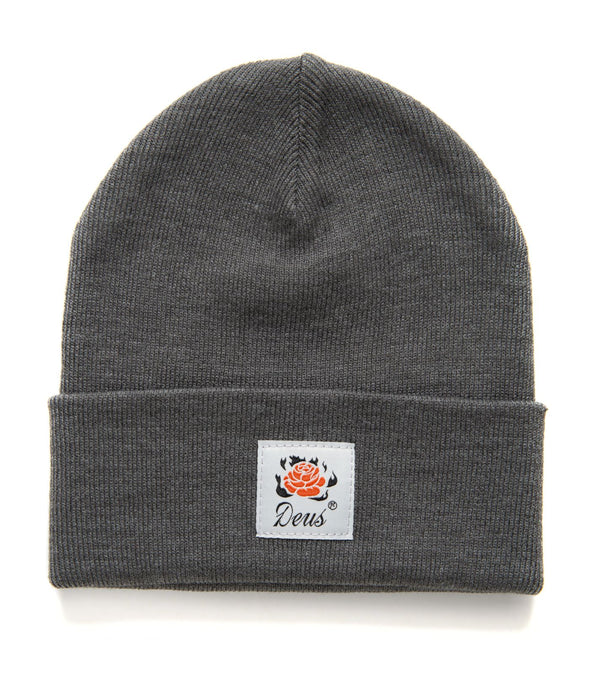 Burning Rose Beanie - Phantom Black
