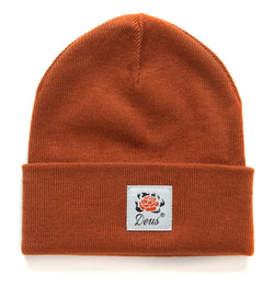 Burning Rose Beanie - Rust