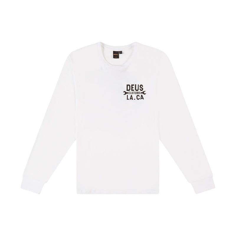 Franko Long Sleeve Tee - White