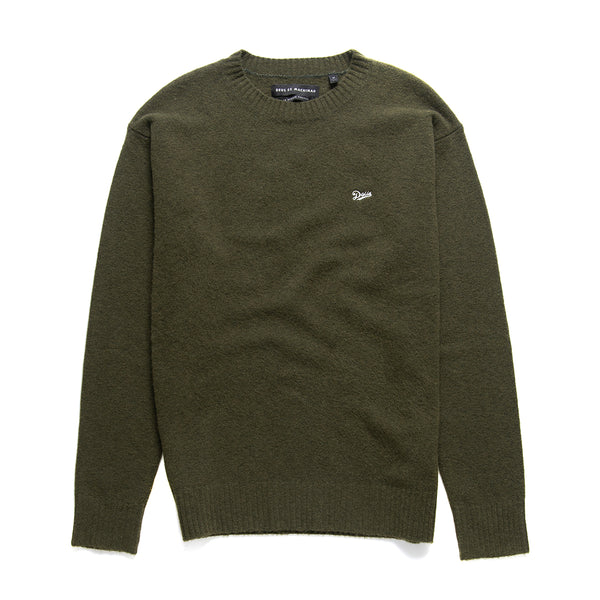 Oversized Knit Crew - Bark