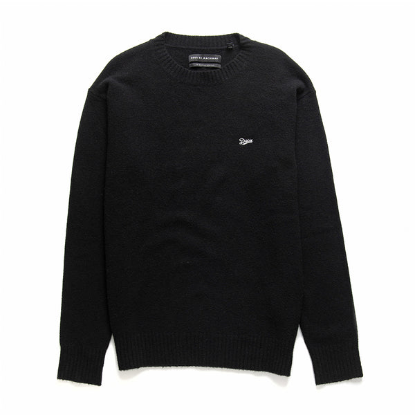 Oversized Knit Crew - Phantom Black