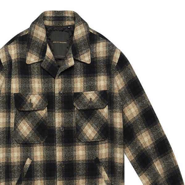 The Piston Wool Shirt - GREEN