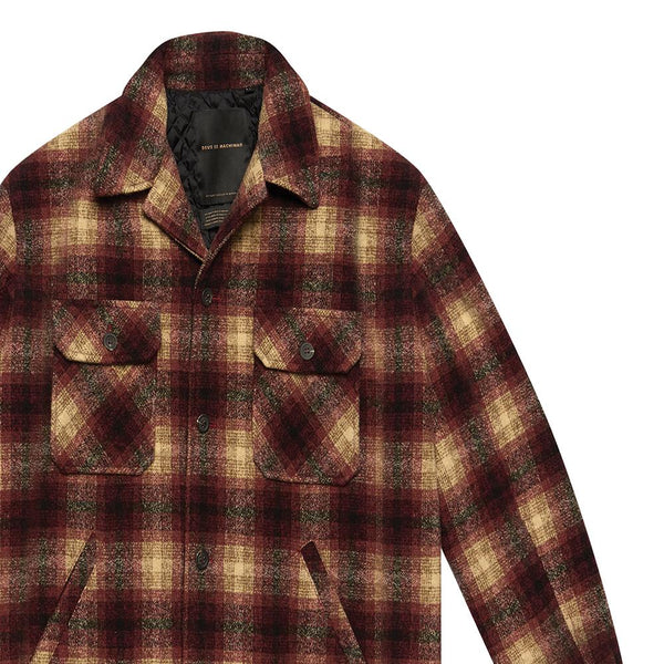 The Piston Wool Shirt - RED