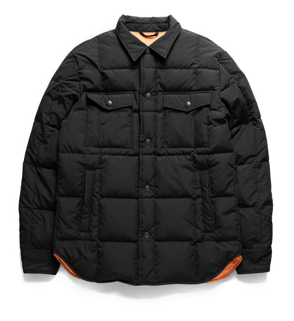 Maxwell Down Puffa Overshirt - Black