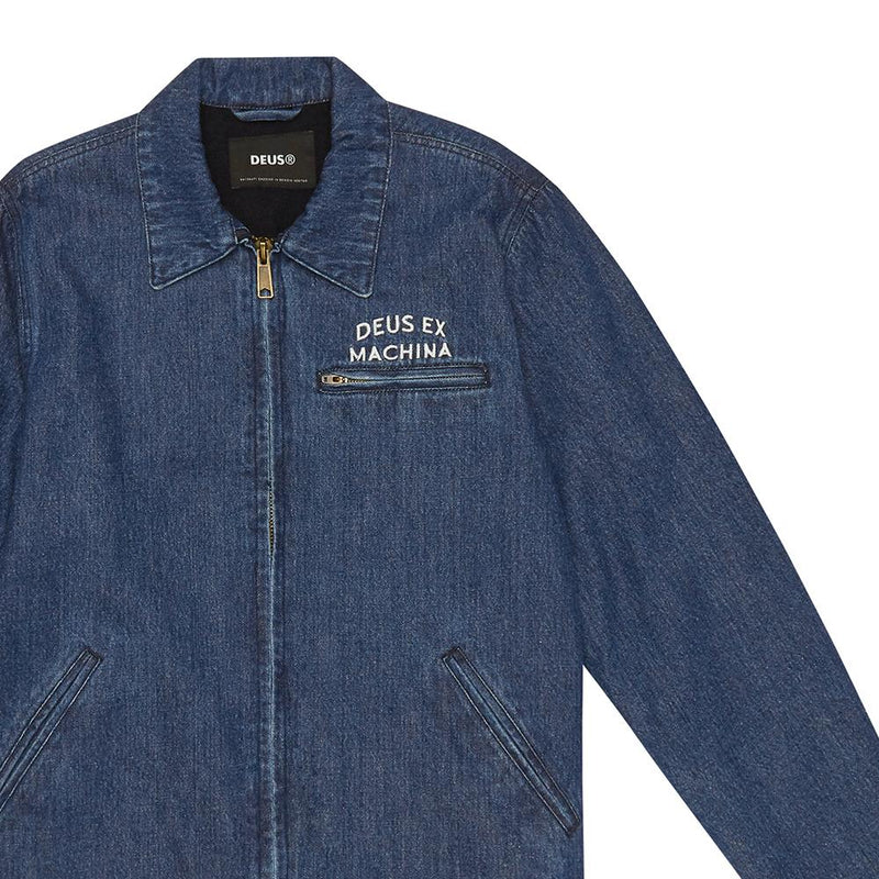 Lloyd Jacket - MID BLUE DENIM