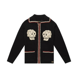 Trappa Knit Cardigan - BLACK