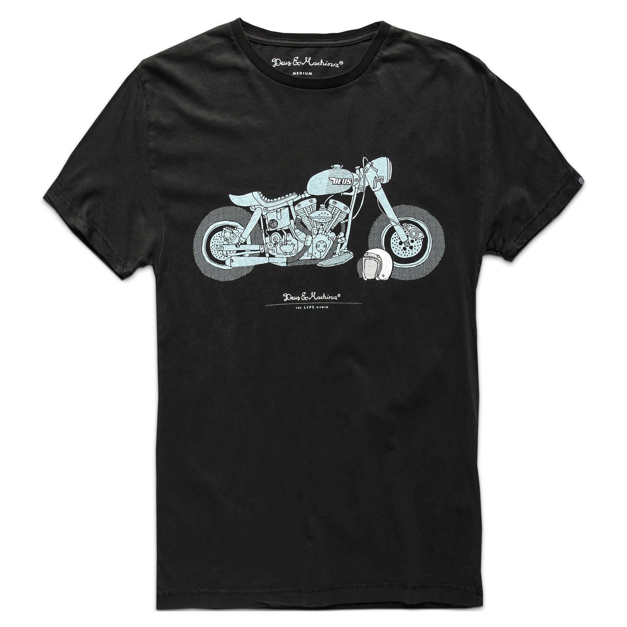 Tees Deus Ex Machina Motorcycles 1 Tshirt Kaos Raglan The Lips 1249 Classic