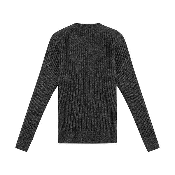 Mixed Yarn Crew - Black Mix