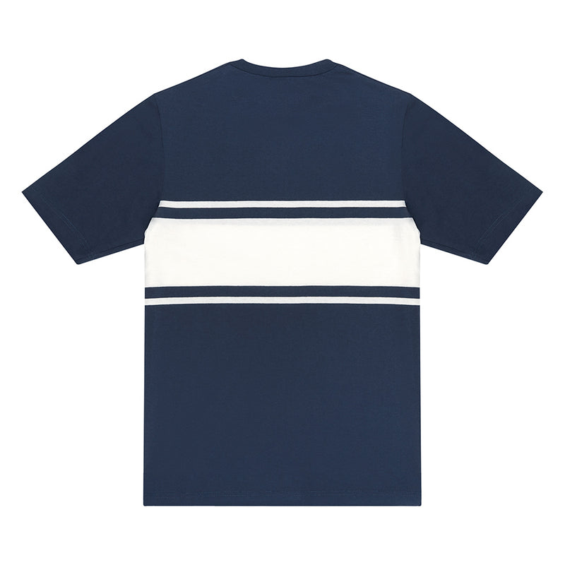 Curly Stripe Tee - Blue / White