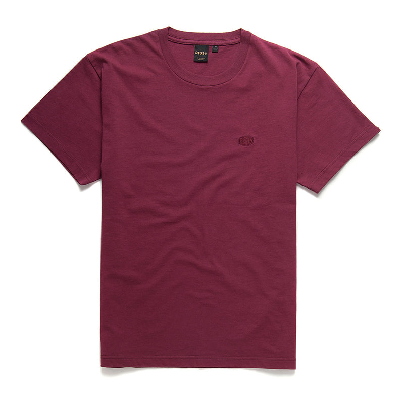 Steve Shield Tee - Sangria Red