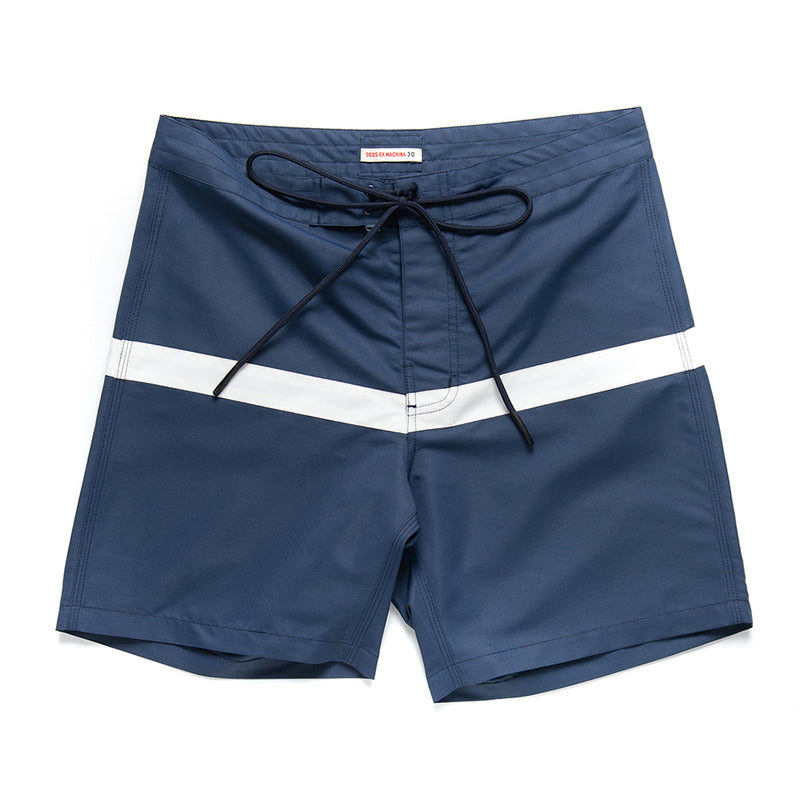 Seabees Boardshort - White-Blue