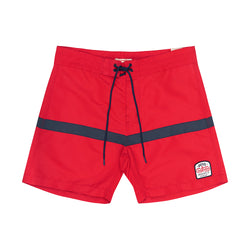 Seabees Boardshort - Red / Blue