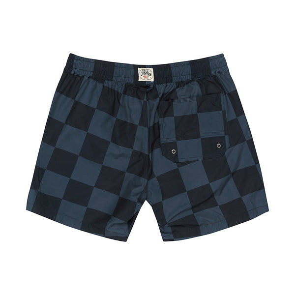 Sandbar Travellers Check Swimshort - Blue Check