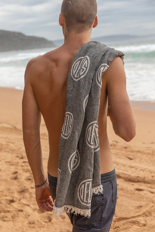 Chex Beach Towel - Charcoal