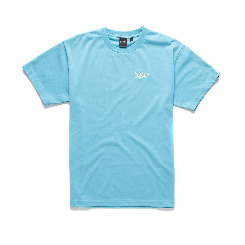 Flagged Tee - MILKY BLUE
