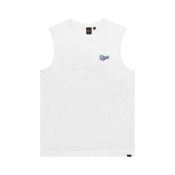 Flagged Muscle - Vintage White