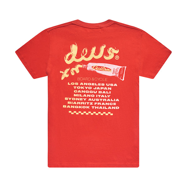 Paste Tee - Risk Red