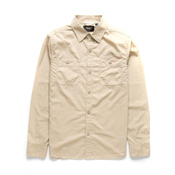 Service Poplin Long Sleeve Shirt - Safari
