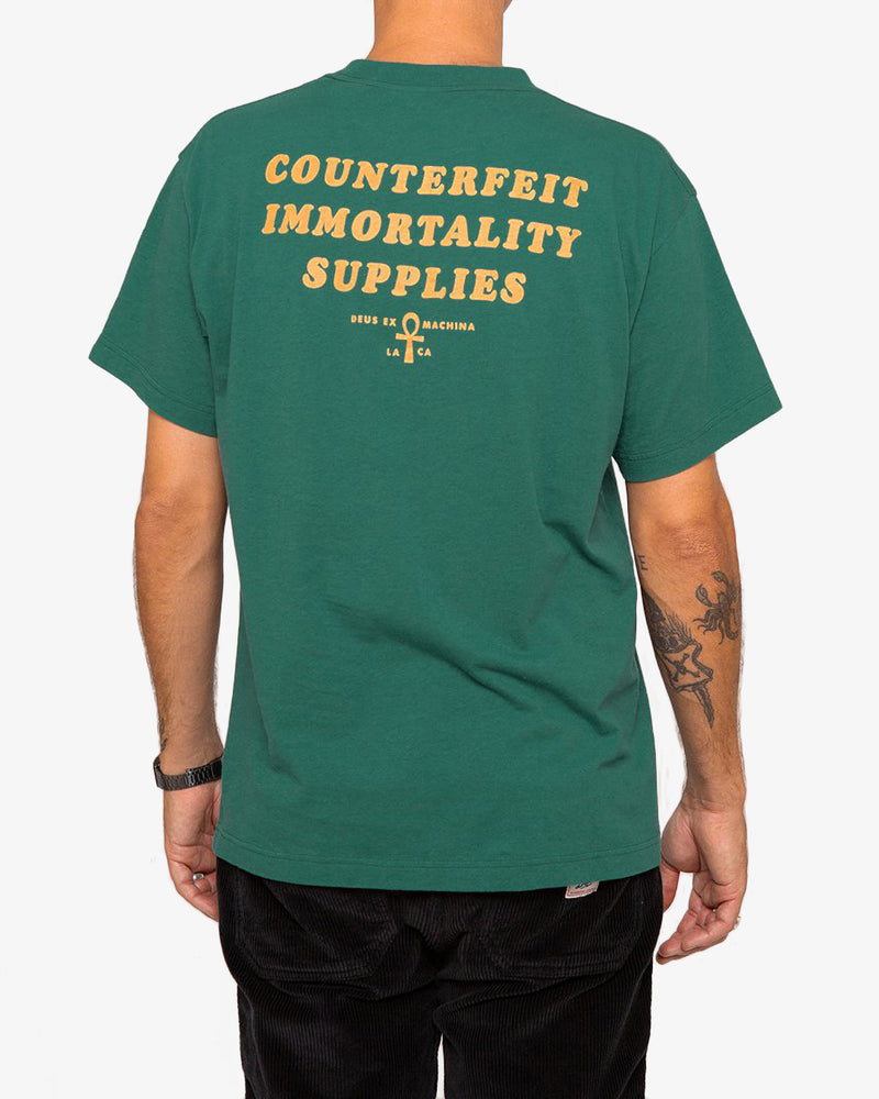 Counterfeit Tee - Jasper Green