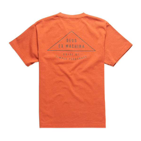 Giza Short Sleeve Tee - Orange Rust