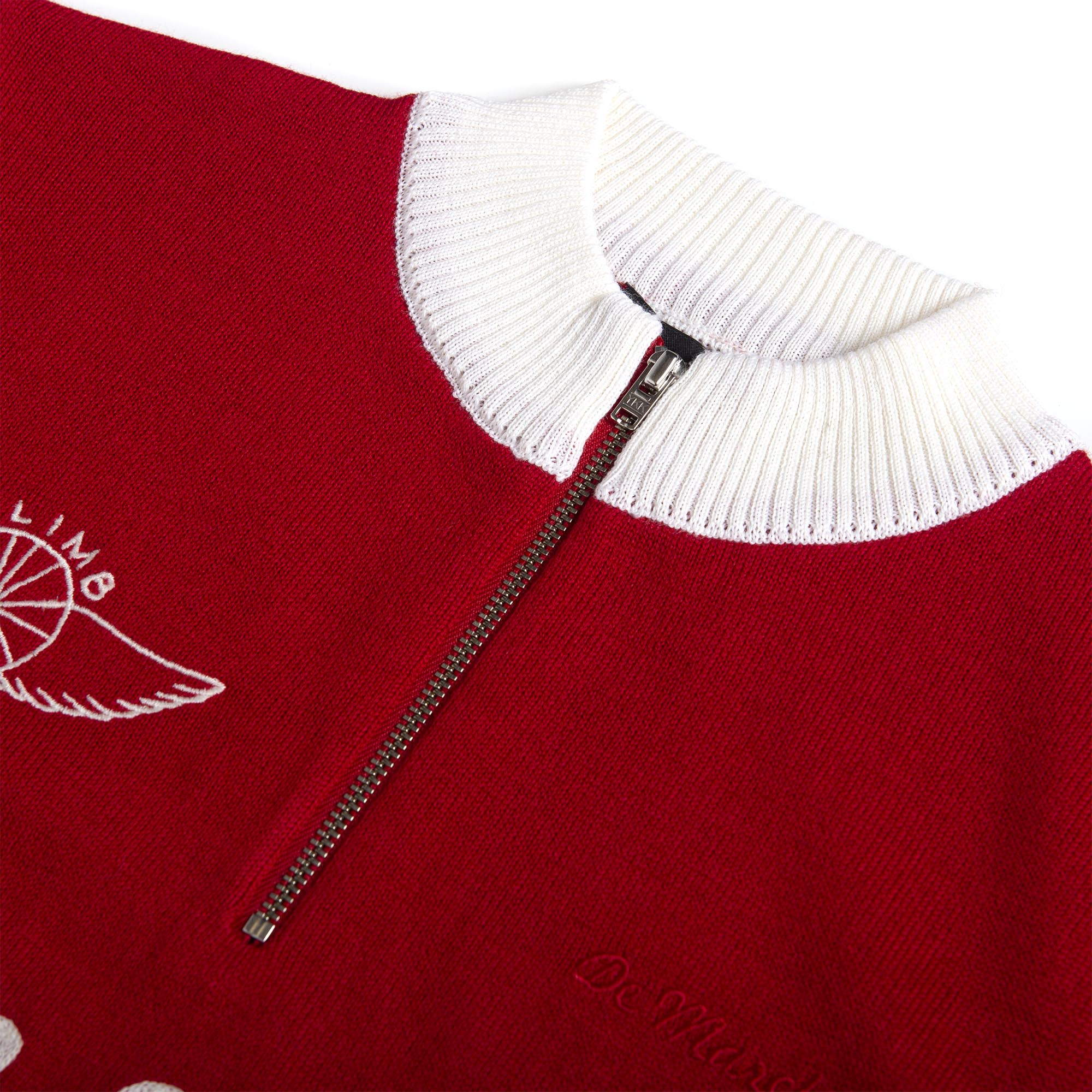 The Harvard Merino Jersey - Red