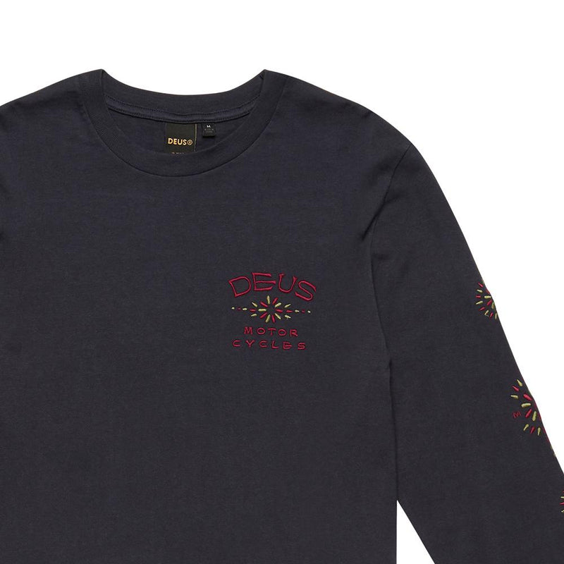 Solita Embroidered Tee - Midnight Blue