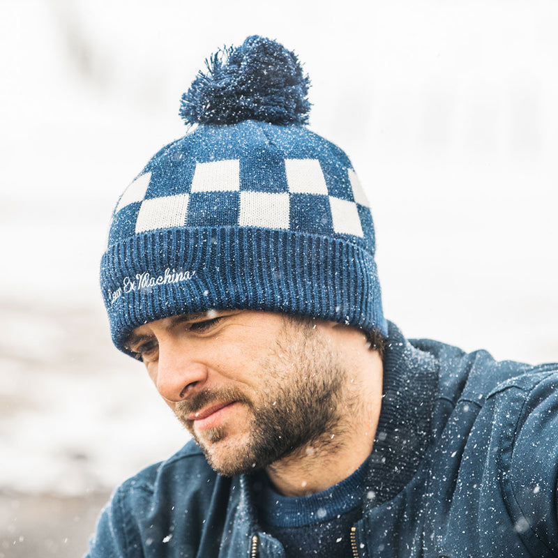 Moto Beanie - Estate Blue