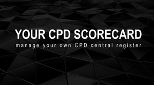 YOUR CPD SCORECARD -  Central register for all your CPD certificates -  INDIVIDUAL Package