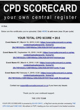Load image into Gallery viewer, YOUR CPD SCORECARD -  Central register for all your CPD certificates