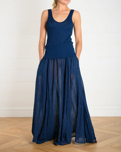 Oleander Skirt - Navy Cotton