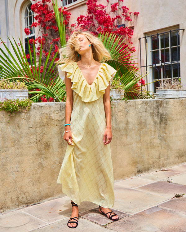 Mimosa Maxi Dress Lemonade