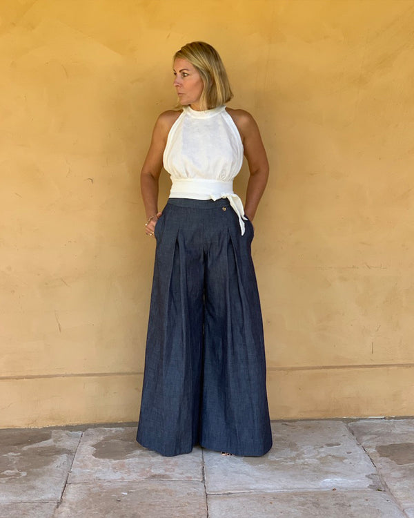 Riviera Wide Leg Denim Pant