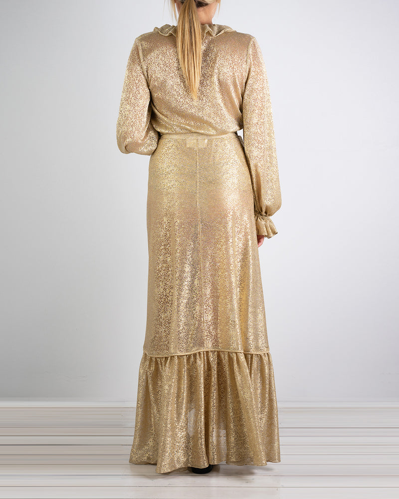 Elba Gold Wrap Skirt