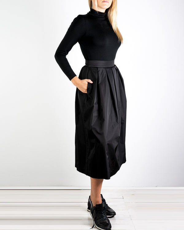 Paloma Pleated Taffeta Skirt