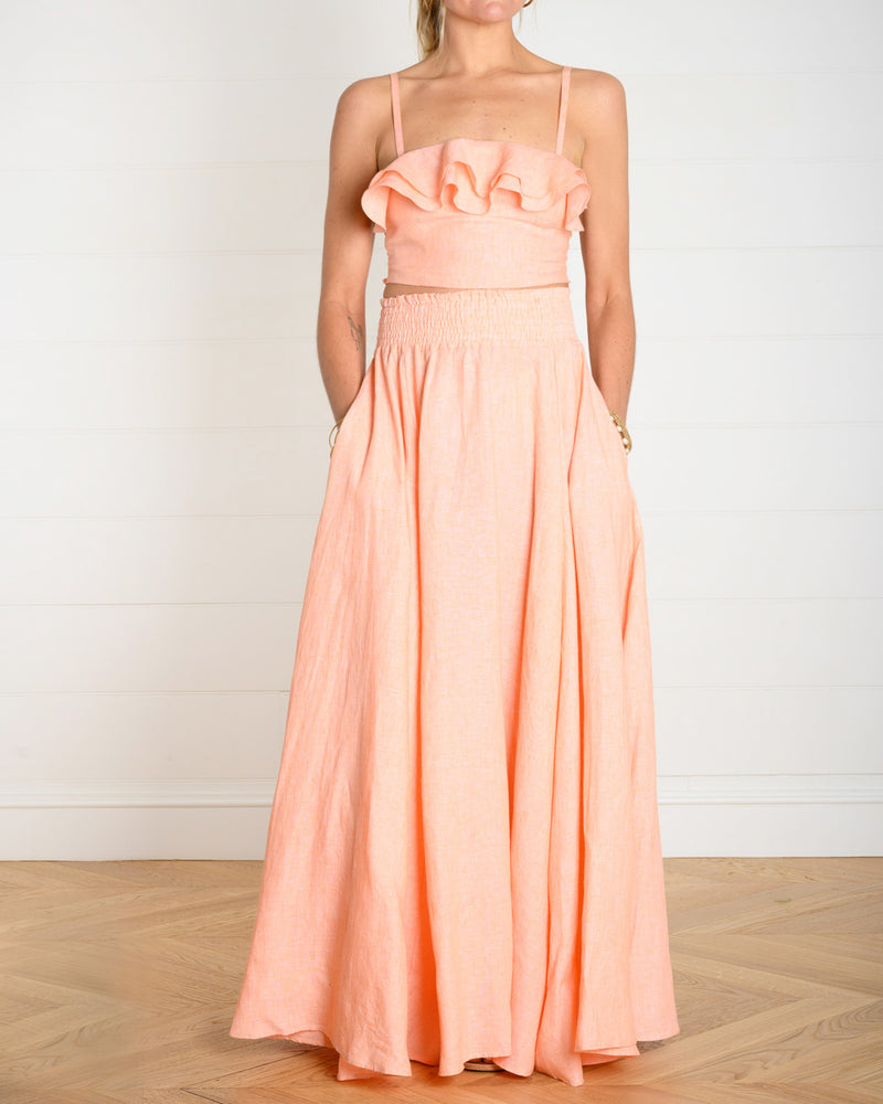 Isola Cropped Bustier Apricot