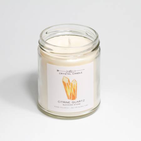 JaxKelly Citrine Success Grapefruit Oil Soy Candle