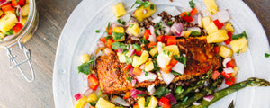 Blackened Salmon with Pineapple Pico