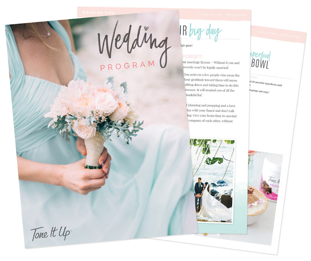 Tone It Up Wedding Program! (NEW)