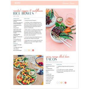 Summer Series Meal Plan