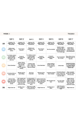 Tone It Up 2021 Meal Plan