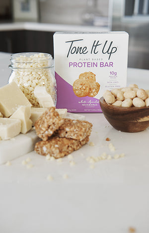 White Chocolate Macadamia Bars