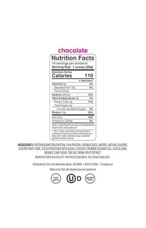 Plant Based Chocolate Protein Powder - 14 servings