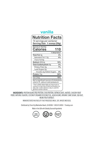 Plant Based Vanilla Protein Powder - 14 Servings