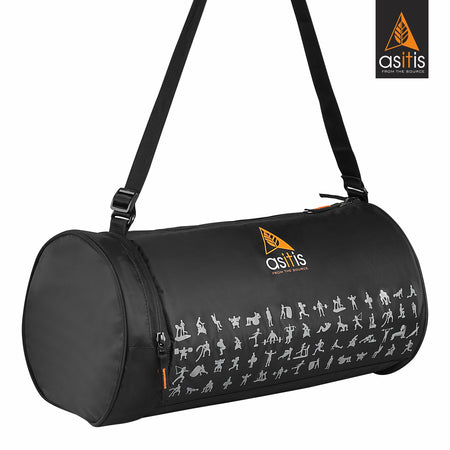 AS-IT-IS Fold-down Duffle Fitness Gym bag - Black