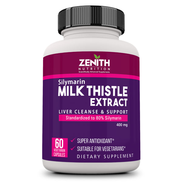 Zenith Nutrition Silymarin Milk Thistle 400mg - 60 Veg caps