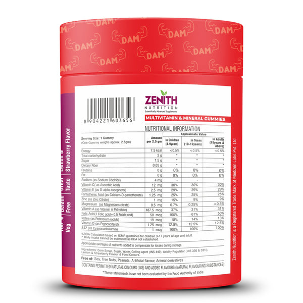 Zenith Nutrition Daily Active Multiple Gummies - 30 Count