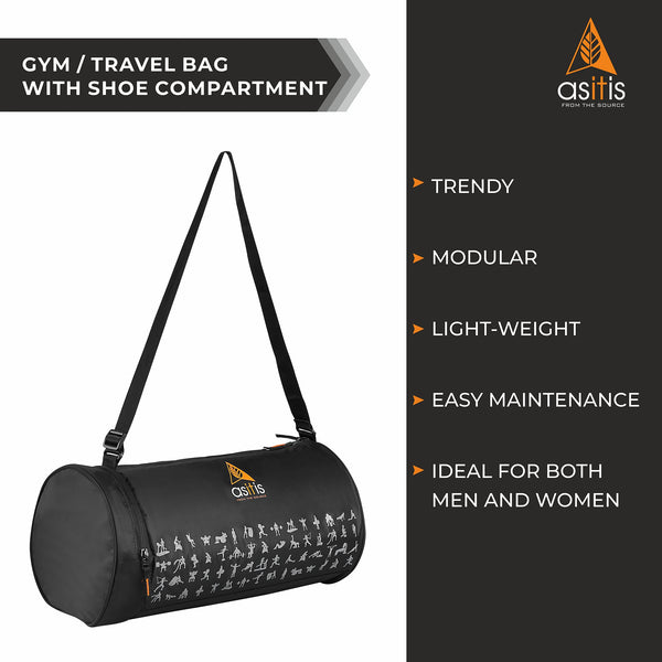AS-IT-IS Modular Gym/Travel Bag with Shoe Compartment (for Men & Women)
