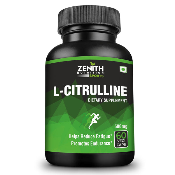Zenith Sports L-Citrulline - 1000mg per serving of 2 caps | Natural Amino Acid for Muscles