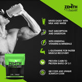 Zenith Nutrition Mass Gainer++ with Enzyme blend | 17gm Protein | 51gm Carbs | Added Glutamine | Lab tested (Kesar Kulfi)