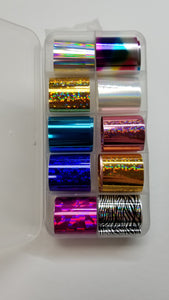Foil 10 Pack Multi - Holographic with Zebra